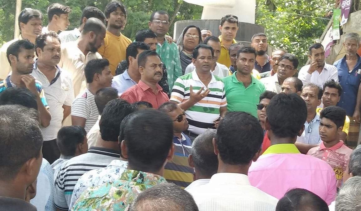 কলারোয়া উপজেলা চেয়ারম্যানের বিরুদ্ধে মিথ্যা অপপ্রচারের  প্রতিবাদ