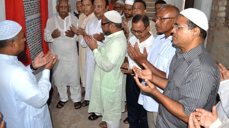 বগুড়ার নামাজগড় আঞ্জুমান-ই-গোরস্থান পরিচালনা কমিটির ফলক উন্মোচন